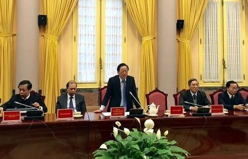 Văn phòng Chủ tịch nước công bố sáu luật mới